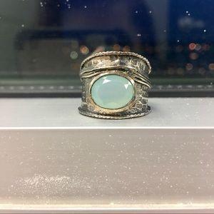 Jewelry - Aqua Sterling Silver Ring 💍